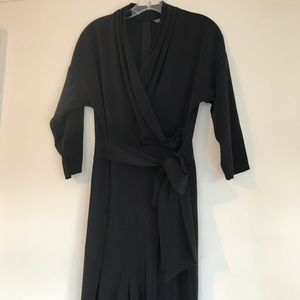 Catherine Malandrino Pants - Catherine Malandrino Black Wrap Front Jumpsuit
