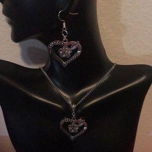Jewelry - SILVER TIBETAN HEART ROSE SET ( HANDMADE)
