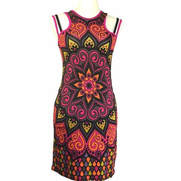 a922c5f18b CLEARANCE Unique Baba Design Psychodelic Dress
