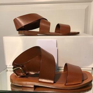 a382e9b99c1c7d Celine Shoes - NWT Celine Bam Bam Leather Flat Sandals - Caramel