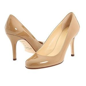 Kate Spade Karolina nude patent leather heels