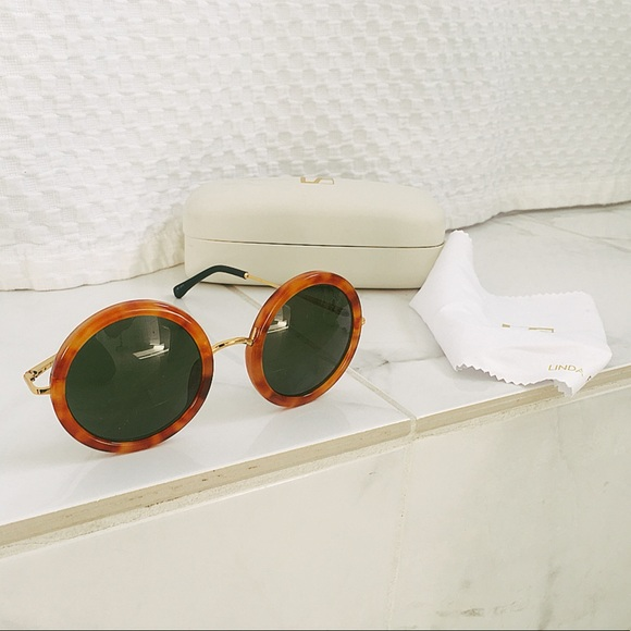 deb37a4e776 Linda Farrow x The Row sunglasses (lt tort). M 5a32c7d94e95a3f46303111d.  Other Accessories ...