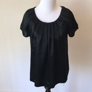 French Connection Black Silk Top