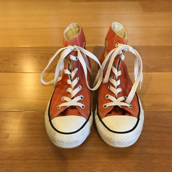 Burnt Orange Converse High Tops