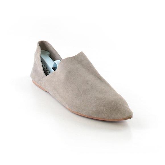 5389c7a9cd Zara Woman Gray Suede Slipper Slides Mules Flats