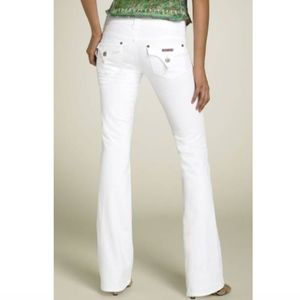 [Hudson] Triangle Pocket Boot Stretch White Jeans