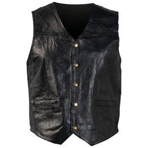 Restock Design Genuine Leather Vest S-3X