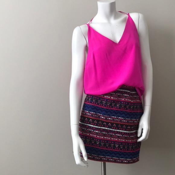 915ba0bf2abe NWT Amanda Uprichard Pink Double Tie Silk Cami
