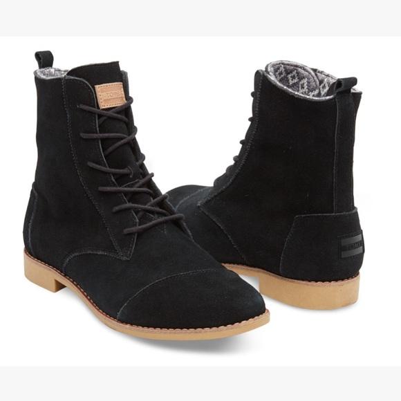 Toms Shoes   Toms Black Suede Alpa