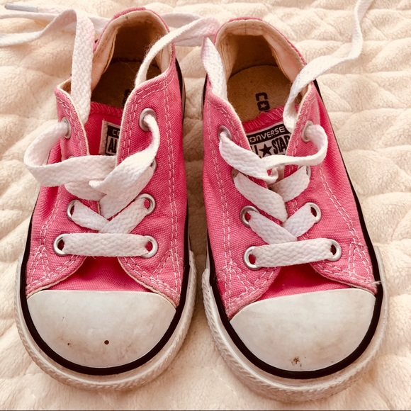 617ca756d69d Converse Other - Converse Pink Baby Toddler Girls Size 6