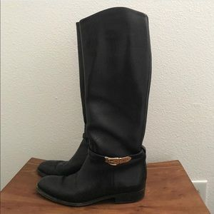 Leather riding boots, size 7