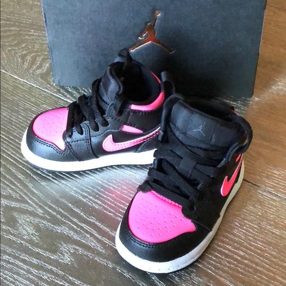 Air Jordan Shoes Baby Girl Jordan 1 Retro High Top 4c Blackpink