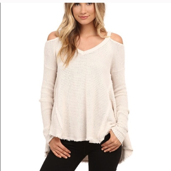 2baa5e31a5efaa Free People Tops - Free People cold shoulder sweater