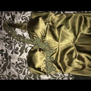 Dresses & Skirts - Mermaid style floor lenftth dress in olive green