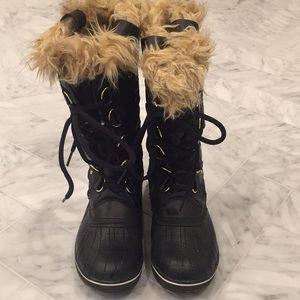 Sorel Tofino ll boot- black with tan fur 7 1/2