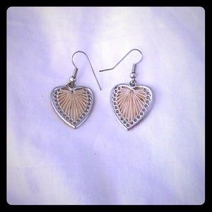 Jewelry - Knit heart earrings