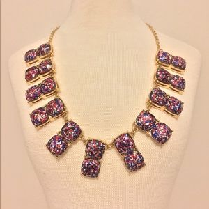 Jewelry - Red, White, & Blue Glitter statement necklace