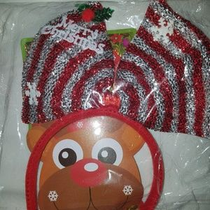 Accessories - Merry Christmas sequin headband with a bow