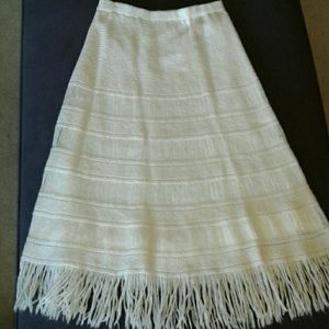 Dresses & Skirts - Vintage boho knit fringed skirt by Neusteters