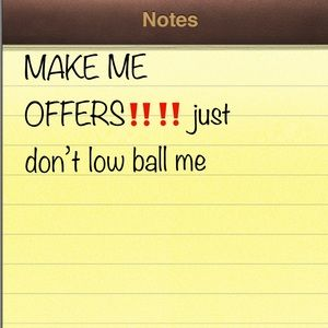 Other - Make me offers ‼️
