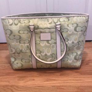 Large Coach overnight bag