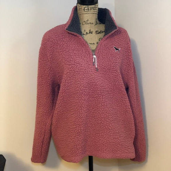 Pink Victorias Secret Tops Vs Pink Pink Fuzzy Jacket Poshmark