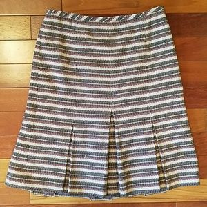 Ann Taylor LOFT Tweed Pleated Skirt