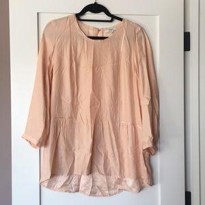 Madewell silk peach etude blouse