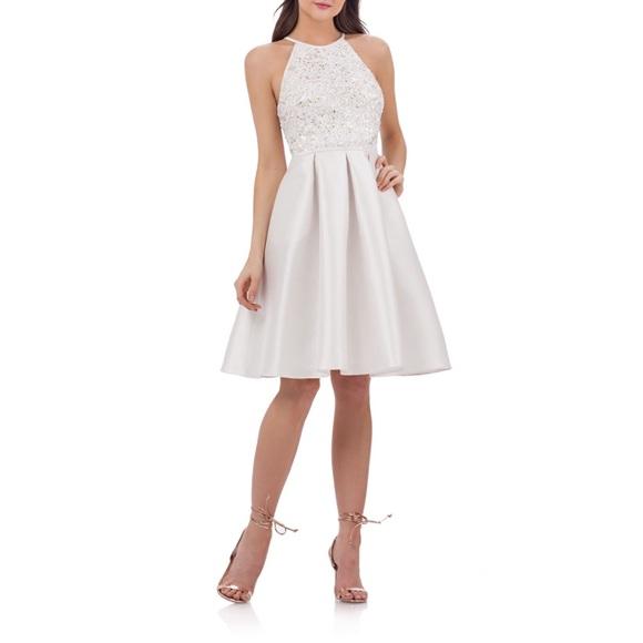 Carmen Marc Valvo Dresses | Nwt Sequin Mikado Plus Dress | Poshmark