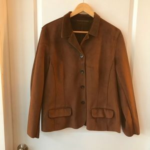 Jackets & Blazers - Brown Faux Suede Jacket size Large