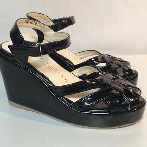 Girls Black Dress Shoes Size 2