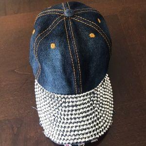 Accessories - Bling Baseball Hat Women Denim Hat Cap