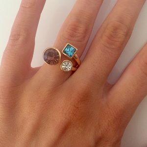 New York & Company Rhinestone cluster ring