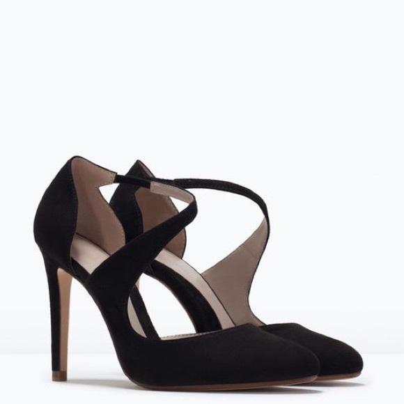 10e71a94cb5 Zara Formal Asymmetrical Strap Mary Jane Stilettos