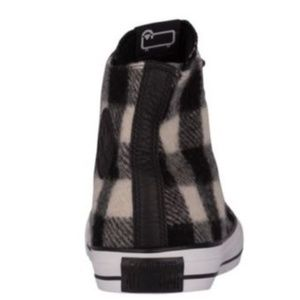 d66c73524944 Converse Shoes - Converse WOOLRICH White Black Flannel 153834C