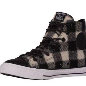 d66c73524944 Converse Shoes - Converse WOOLRICH White Black Flannel 153834C