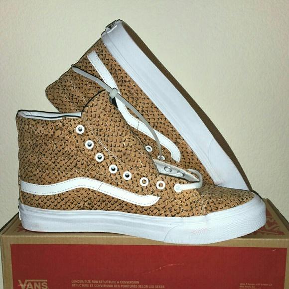 2f3209e64e 🆕Vans Sk8-Hi Slim Embossed Cork Natural Shoes 8.5