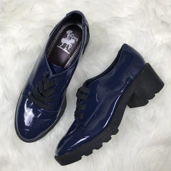 f7e4b73fe6877 Circus by Sam Edelman Shoes - Sam Edelman Darien Oxford Blue Patent Shoes