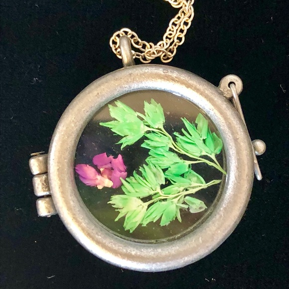Jewelry Pressed Flower Locket Glass Terrarium Necklace Poshmark