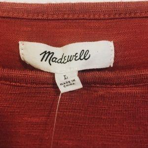 🔆 NWT MADEWELL Orange Shirt 🔆