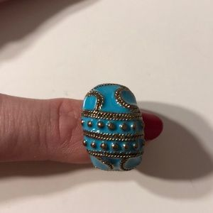 Jewelry - Faux Turquoise and Gold Ring Size 6