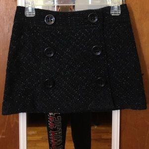NWT express black glitter button skirt