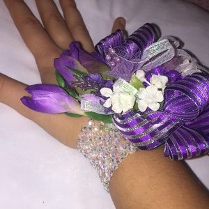 Jewelry - Purple and Silver Corsage