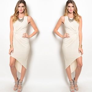 Dresses & Skirts - KAREN CREAM TWISTED KNOT DRESS