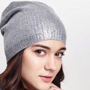 Accessories - Gray metallic beanie