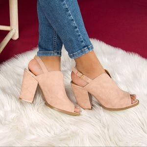 Shoes - 🆕 Blush Distressed Slingback Mule