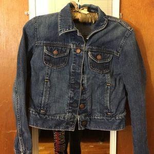 gap blue washed denim jacket