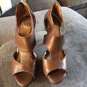 Sofft Brown leather heels 7
