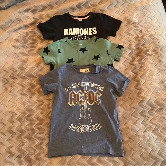 709e46d34 H&M Shirts & Tops | Set Of 3 1824 Month Hm Tees Band Tees | Poshmark