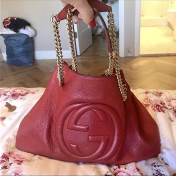 Gucci Bags   Leather Soho Tote With Chain Strap   Poshmark 6be43704d8